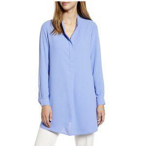 Anne Klein $79 Peacock Blue Long Sleeve Tunic